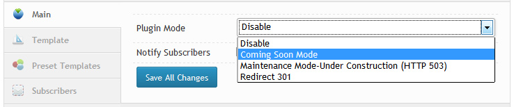 "Coming Soon /Maintaince ModРЎС"" / Under Construction WordPress Plugin"