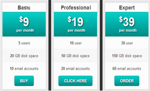 Responsive pricing template