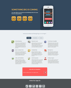CSS3 responsive landing page