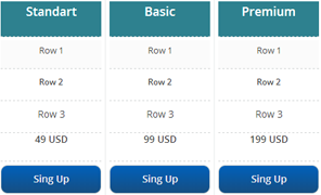 simple pricing template