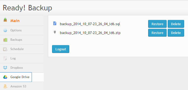 Backup WordPress to Google Drive