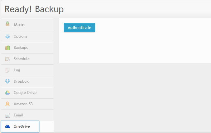 WordPress backup to Microsoft OneDrive